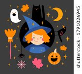 halloween illustrations set ...   Shutterstock .eps vector #1791026945