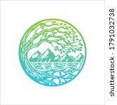 River Tree Logo Circle Shape...
