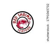 seafood restaurant shrimp logo... | Shutterstock .eps vector #1791065732