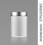 empty transparent plastic... | Shutterstock .eps vector #1791103562