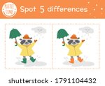 autumn find differences game... | Shutterstock .eps vector #1791104432