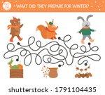 Autumn Maze For Children....