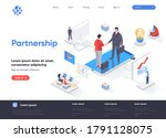 partnership isometric landing...