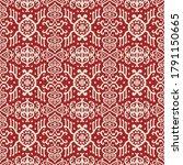 ikat geometric folklore...   Shutterstock .eps vector #1791150665