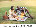 image of a family having picnic ... | Shutterstock . vector #179116082