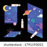 various dimensions of outer... | Shutterstock .eps vector #1791193022