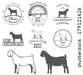agriculture,animal,badge,barn,black,boer,breed,butcher,butchery,cartoon,cheese,chevon,dairy,eco,emblem