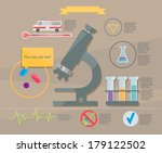 medical research. infographic | Shutterstock .eps vector #179122502