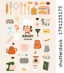 Cute Bakery Elements Flat...