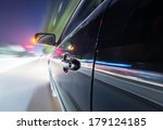 car on the road with motion... | Shutterstock . vector #179124185