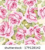 vintage flowers seamless pattern | Shutterstock .eps vector #179128142