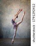 Graceful Ballet Dancer In A...