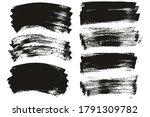 flat paint brush thin long  ... | Shutterstock .eps vector #1791309782