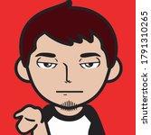 vector graphics of male avatar... | Shutterstock .eps vector #1791310265