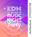 music night party paper cut... | Shutterstock .eps vector #1791315758