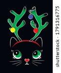 Christmas Cat Kitten Face On...