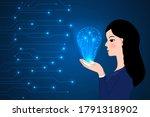 beautiful business woman...   Shutterstock .eps vector #1791318902
