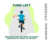 cycling rules for traffic... | Shutterstock .eps vector #1791325205