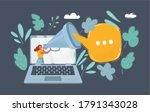 vector cartoon illustration of... | Shutterstock .eps vector #1791343028