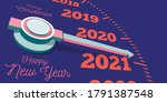 happy new year 2021. a... | Shutterstock .eps vector #1791387548