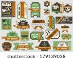 vector set  tickets in...   Shutterstock .eps vector #179139038