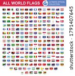 world flags official collection ... | Shutterstock .eps vector #1791407645