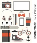 hipster infographic elements... | Shutterstock .eps vector #179141012