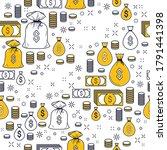 financial icon set seamless... | Shutterstock .eps vector #1791441398