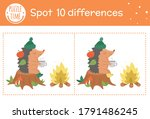 autumn find differences game... | Shutterstock .eps vector #1791486245
