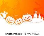 halloween background with... | Shutterstock .eps vector #17914963