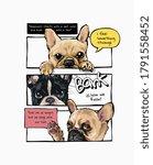 cartoon dogs in comic panel...   Shutterstock .eps vector #1791558452