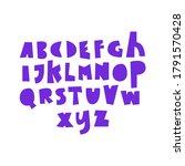 unique fun sans serif font set... | Shutterstock .eps vector #1791570428