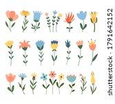 Set Of Vector Flowers....