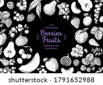 berries and fruits drawing... | Shutterstock .eps vector #1791652988