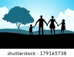 nature background with family...   Shutterstock . vector #179165738