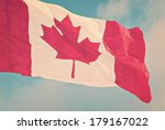 Close Up Of A Canadian Flag...