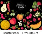 berries and fruits drawing... | Shutterstock .eps vector #1791686375