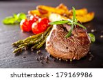 Piece Of Red Meat Steak With...