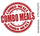 combo meals sign or stamp on... | Shutterstock .eps vector #1791741575