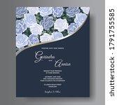 wedding invitation card... | Shutterstock .eps vector #1791755585