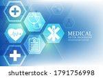 futuristic hexagon medical...   Shutterstock .eps vector #1791756998