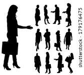 vector silhouette of business... | Shutterstock .eps vector #179176475