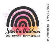 save the children end human...   Shutterstock .eps vector #1791767018