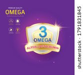 omega 3 nutrition and vitamin... | Shutterstock .eps vector #1791831845