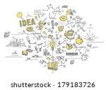 business doodles | Shutterstock . vector #179183726