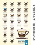 vector illustration with coffee ... | Shutterstock .eps vector #179185076
