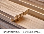 Joinery. Stacked Wooden Edge...