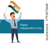 happy independence day 15th... | Shutterstock .eps vector #1791873668