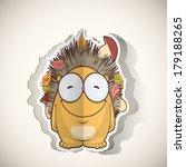 cartoon hedgehog character cut... | Shutterstock .eps vector #179188265