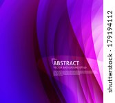 abstract curves background.... | Shutterstock .eps vector #179194112